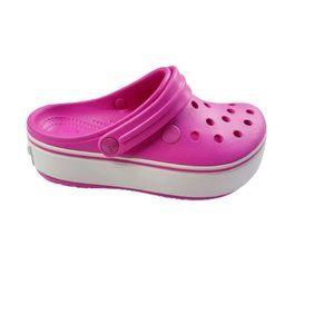 Crocs Girls Crocband Platform Clogs